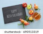 rosh hashanah  jewish new year... | Shutterstock . vector #690513319