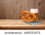 oktoberfest celebration concept ... | Shutterstock . vector #690521971