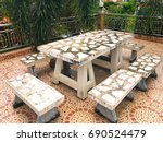 white marble horse table | Shutterstock . vector #690524479