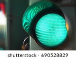 Close Up View Of Green Color O...