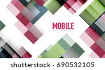 business presentation geometric ... | Shutterstock .eps vector #690532105