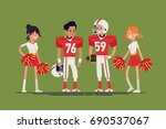 cool vector character design on ... | Shutterstock .eps vector #690537067