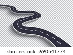 winding road isolated... | Shutterstock .eps vector #690541774