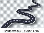 winding road isolated... | Shutterstock .eps vector #690541789