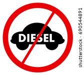 diesel ban   traffic sign is... | Shutterstock .eps vector #690544891