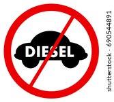 diesel ban   traffic sign is... | Shutterstock .eps vector #690544891