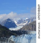 Small photo of Alaska Glacier and Mountains