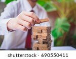 planning risk and strategy in... | Shutterstock . vector #690550411