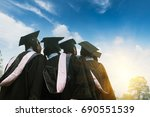 graduation season for college... | Shutterstock . vector #690551539