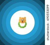 isolated bear beanbag flat icon.... | Shutterstock .eps vector #690553099