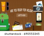 flat illustration. a set of... | Shutterstock .eps vector #690553345