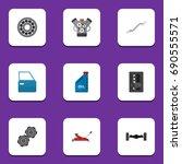 Flat Icon Workshop Set Of Brak...