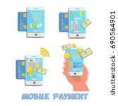 mobile payment concept | Shutterstock .eps vector #690564901