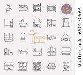 interiors furniture line icon... | Shutterstock .eps vector #690570964