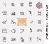 vintage retro line icon set | Shutterstock .eps vector #690571135