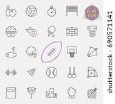 sport line icon set | Shutterstock .eps vector #690571141