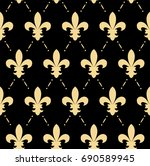 vector illustration of fleur de ... | Shutterstock .eps vector #690589945