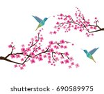 vector illustration of cherry... | Shutterstock .eps vector #690589975