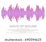 multicolor sound wave vector...   Shutterstock .eps vector #690594625