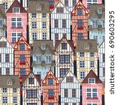 old town seamless pattern | Shutterstock .eps vector #690603295