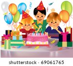 happy children   s birthday... | Shutterstock .eps vector #69061765