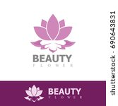 beauty flower logo | Shutterstock .eps vector #690643831