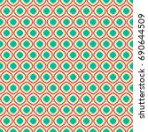 seamless geometric pattern on... | Shutterstock . vector #690644509