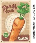 carrots organic farm food... | Shutterstock .eps vector #690647125
