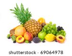 fruit on a white background | Shutterstock . vector #69064978