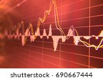 stock market graph analysis.... | Shutterstock . vector #690667444