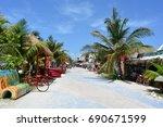mahahual  mexico   jul 26th ... | Shutterstock . vector #690671599
