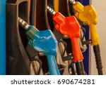pump nozzles in a service... | Shutterstock . vector #690674281