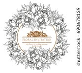 romantic invitation. wedding ... | Shutterstock .eps vector #690678139