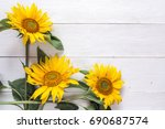 background with a bouquet of... | Shutterstock . vector #690687574