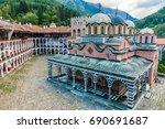 rila monastery  bulgaria. the... | Shutterstock . vector #690691687