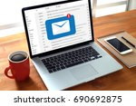 mail communication connection...   Shutterstock . vector #690692875