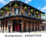 traditional building in french... | Shutterstock . vector #690697939