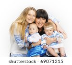 sisters and their children | Shutterstock . vector #69071215