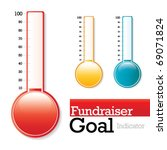 charity thermometer   use to... | Shutterstock .eps vector #69071824