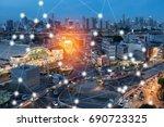 modern and wireless sensor... | Shutterstock . vector #690723325