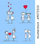 set in love girl and boy... | Shutterstock .eps vector #69072523