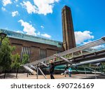 Small photo of LONDON, UK - CIRCA JUNE 2017: Tate Modern art gallery in South Bank power station (high dynamic range)