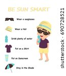 be sun smart. the concept of...   Shutterstock .eps vector #690728521