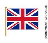 vector uk flag | Shutterstock .eps vector #690728881