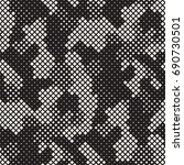 modern stylish halftone texture.... | Shutterstock .eps vector #690730501