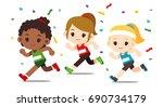vector set of different nation... | Shutterstock .eps vector #690734179