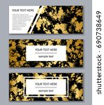 set of white  black and gold... | Shutterstock .eps vector #690738649