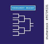 blank sport tournament bracket... | Shutterstock .eps vector #690739231