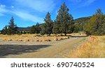 camping in the high desert  ... | Shutterstock . vector #690740524