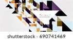 triangle pattern design... | Shutterstock .eps vector #690741469